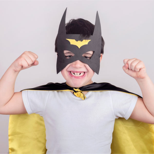 Child dressed up as a superhero